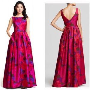 Boatneck Sleeveless A-Line Prom Dress